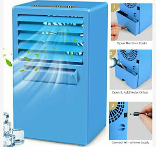 MiToo Desktop Air Cooler Fan with Humidifier