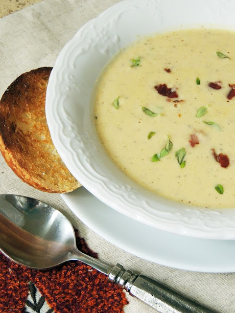 Roasted Cauliflower and Cheese Soup by Bobbi's Kozy Kitchen