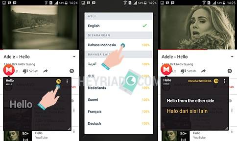Cara Merjemahkan Lirik Lagu YouTube Android