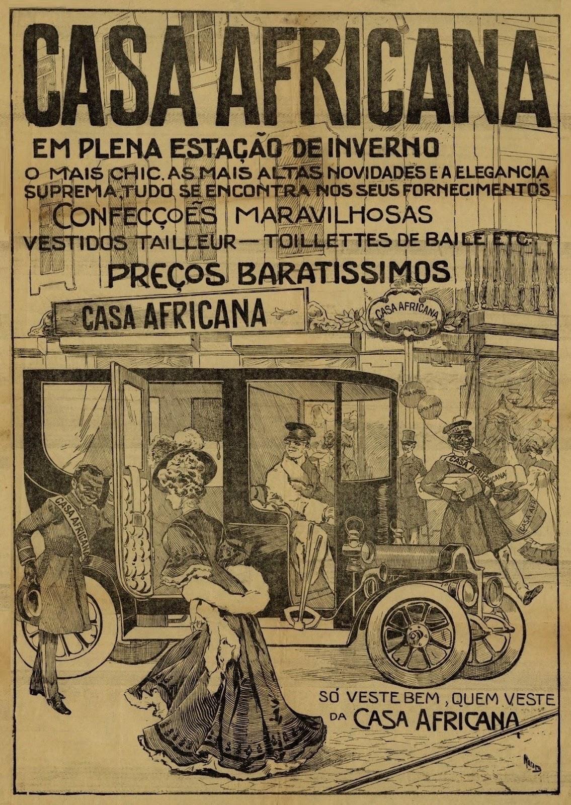Propaganda de 1905 da loja de departamentos Casa Africana