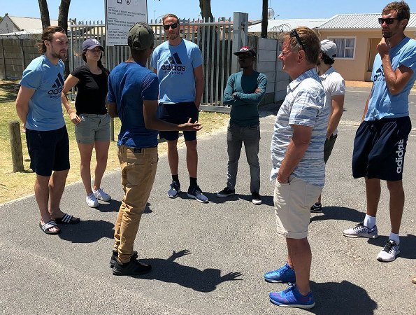 Princess Sofia and Prince Carl Philip of Sweden met with attendees of Project Playground in Cape Town