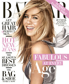 Jennifer Aniston covers Harpers Bazaar April 2016 issue. See photo spread and interview at JasonSantoro.com