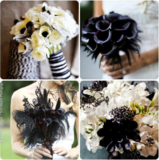 Bouquet Da Sposa In Bianco E Nero