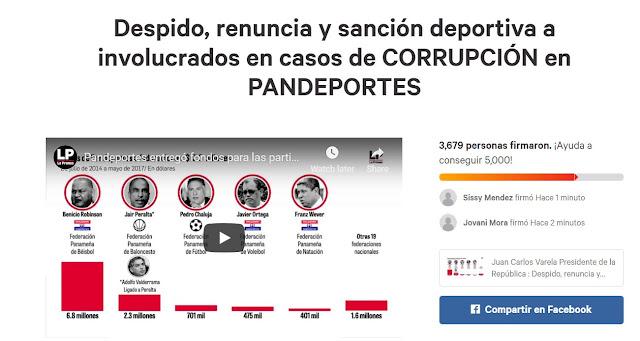 Firma la petición — Despido, renuncia y sanción deportiva a involucrados en casos de CORRUPCIÓN en PANDEPORTES