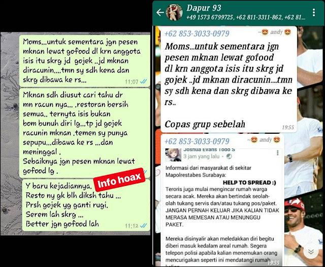 SAH !! Gojek Laporkan Penyebar HOAX Go FOOD DIsusupi ISIS Dan Tebar Racun