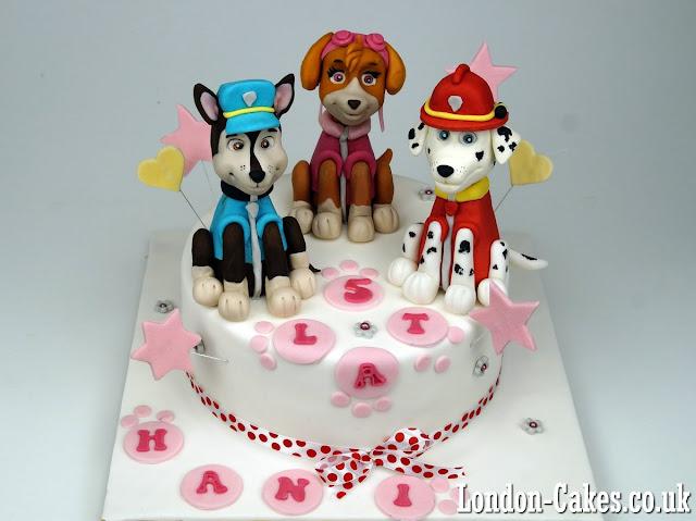 london cakes paw patrol