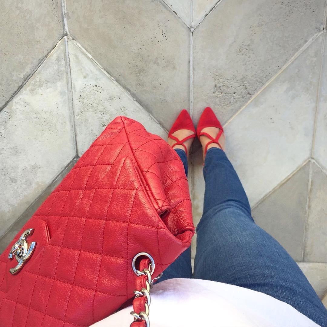 red jumbo chanel, instagrams to follow, designer vault san diego