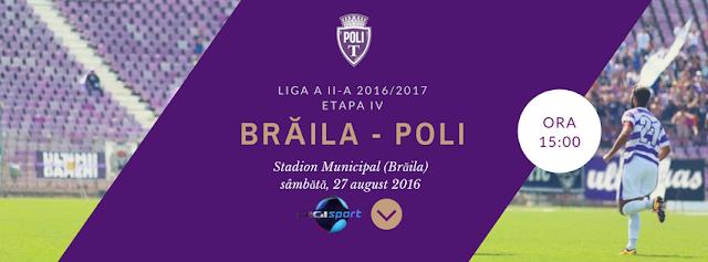 Dacia Unirea Braila - ASU Politehnica Timisoara, Live pe Digisport 1, 27 august, de la ora 15