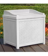 Williston 22 Gallon Resin Deck Box Color White,Wicker Storage Box, Outdoor Storage Boxes, Outdoor Furniture, Outdoor Wicker Furniture,Wicker Outdoor Storage Boxes, Wicker Storage Box, Outdoor Storage Boxes, Outdoor Furniture, Outdoor Wicker Furniture, Rubbermaid Patio Chic Outdoor Storage Cube Dark Teak Basket Weave