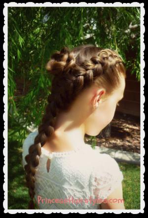 dutch braid rosette hairstyle tutorial