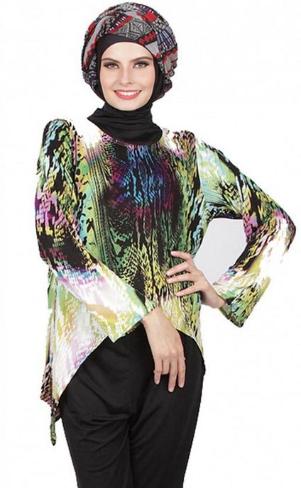 Model Terbaru Busana Muslim Atasan Untuk Ibu Hamil