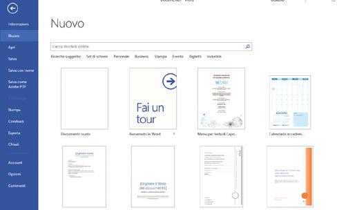 creare un nuovo Documento Word vuoto