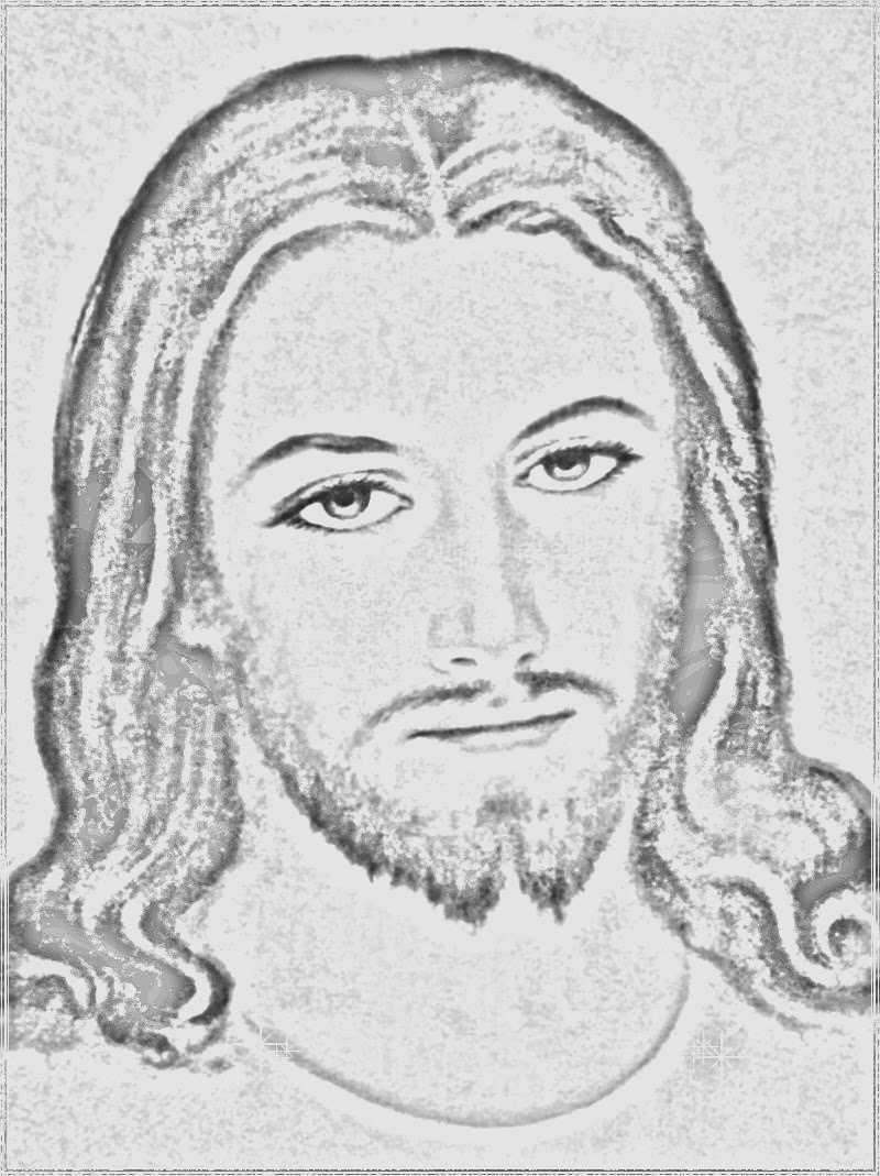 Jesus Face Tattoo Coloring Pages