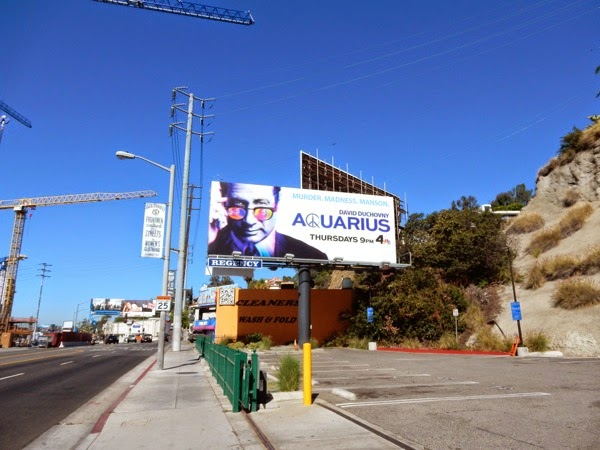 Aquarius NBC series billboard Sunset Strip
