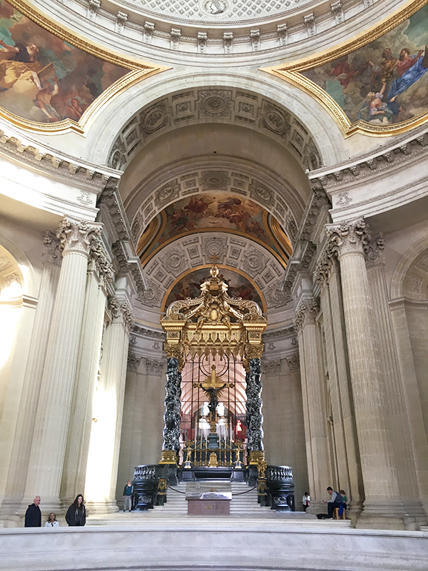 Inside the church at Les Invalides