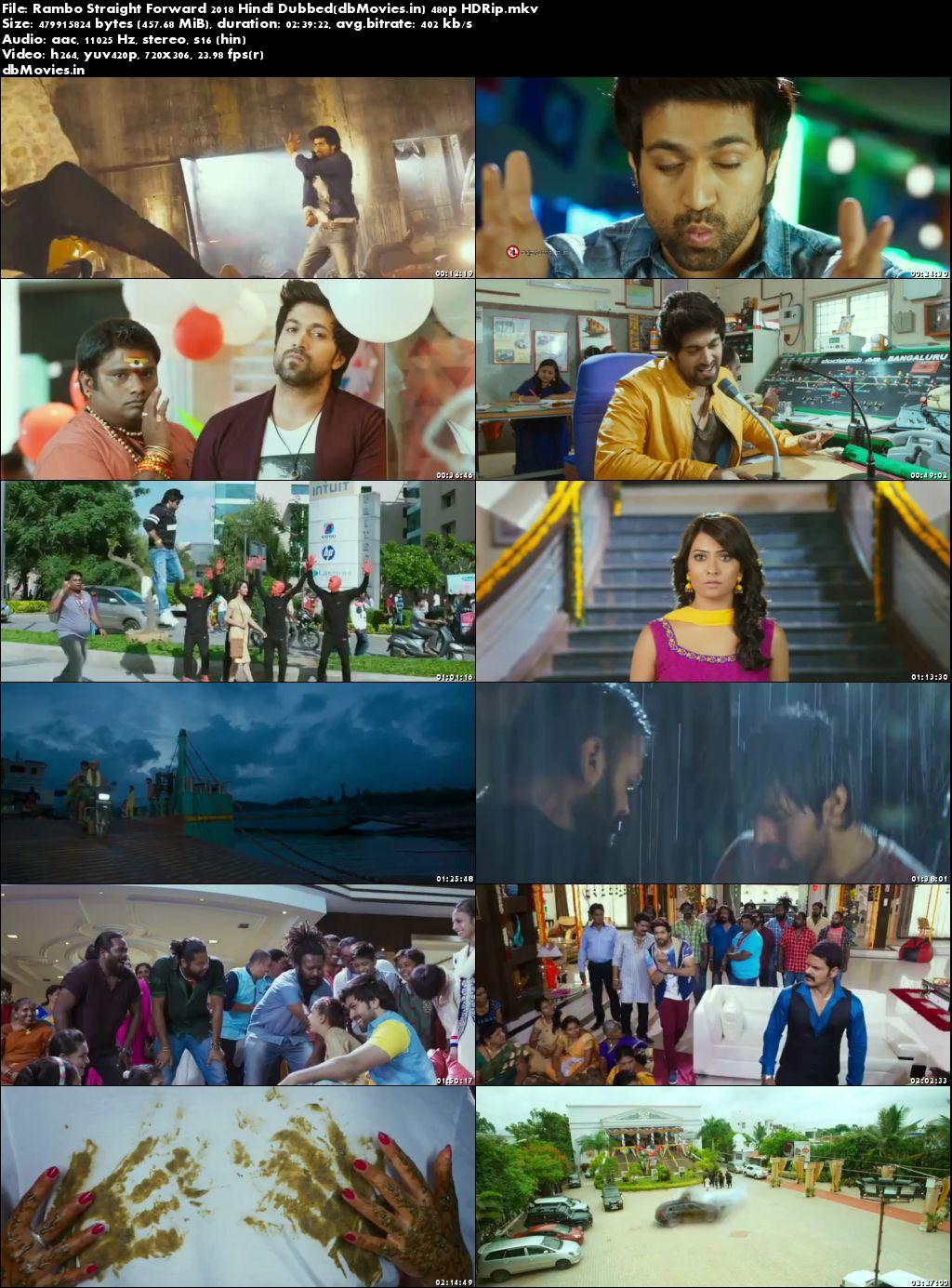 Poster Rambo Straight Forward 2018 Full Movie Dual Audio Hindi Free Download 300Mb
