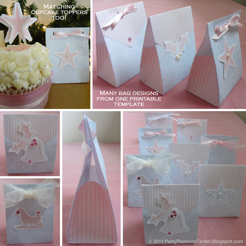 Party Planning Center: Christmas Printables: Free Holiday Gift Bags ...