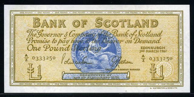 Scottish Pound Sterling note