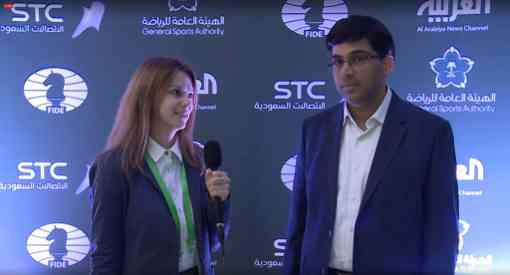 Viswanathan Anand est champion du monde de parties rapides après sa victoire 1.5-0.5 dans les départages en Blitz contre Vladimir Fedoseev - Photo © site officiel