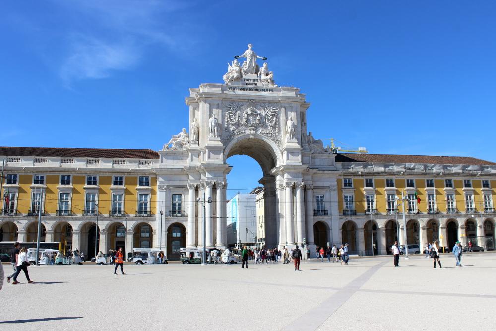 Lissabon Lisboa Lisbon Praça do Comercio Gate Tor