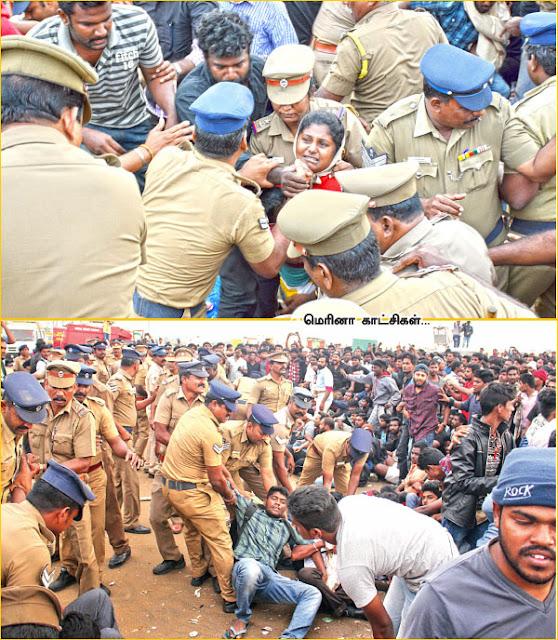 கடல் புரட்சி... 'அராஜக' காக்கி! - சென்னையில் நடந்தது என்ன?