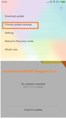 Choose Update Package MIUI XIAMI