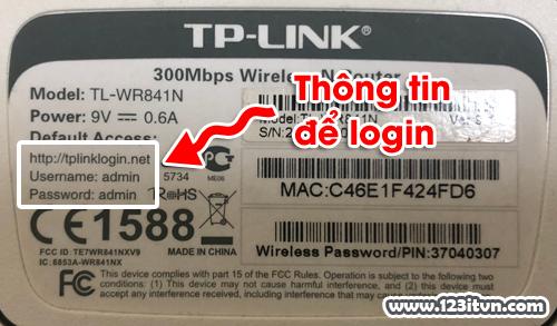 Login vào modem TP-Link