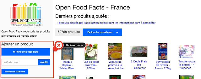 Open Food Facts - Alimentation - Nutrition - Collaboratif - Information