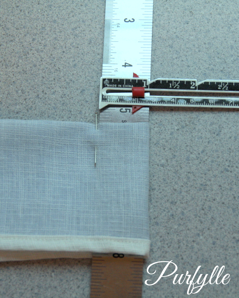 use a spacer to make knife pleats