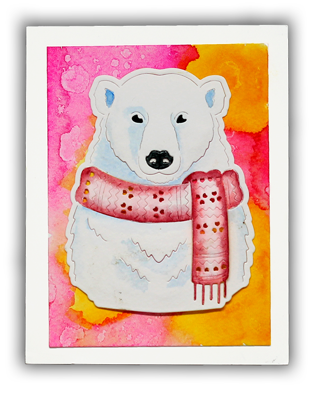 Paper Layering Bear by Understand Blue + Giveaway