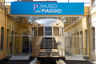 The Piaggio Museum has examples of railway engines and aircraft as well as the Vespa scooter