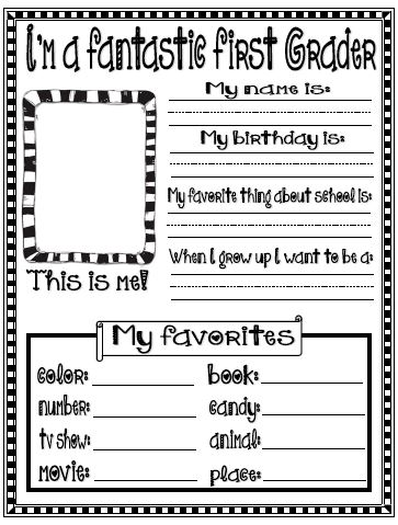 Fern Smith's Classroom Ideas Freebie Friday ~ All About Me Printables for Back to School