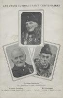 Honderdjarige combattants de 1830,Philippe Demoulin (1809-1912), Antoine Lemoine (1808-1911) en Joseph Ronchesne (1804-1905)