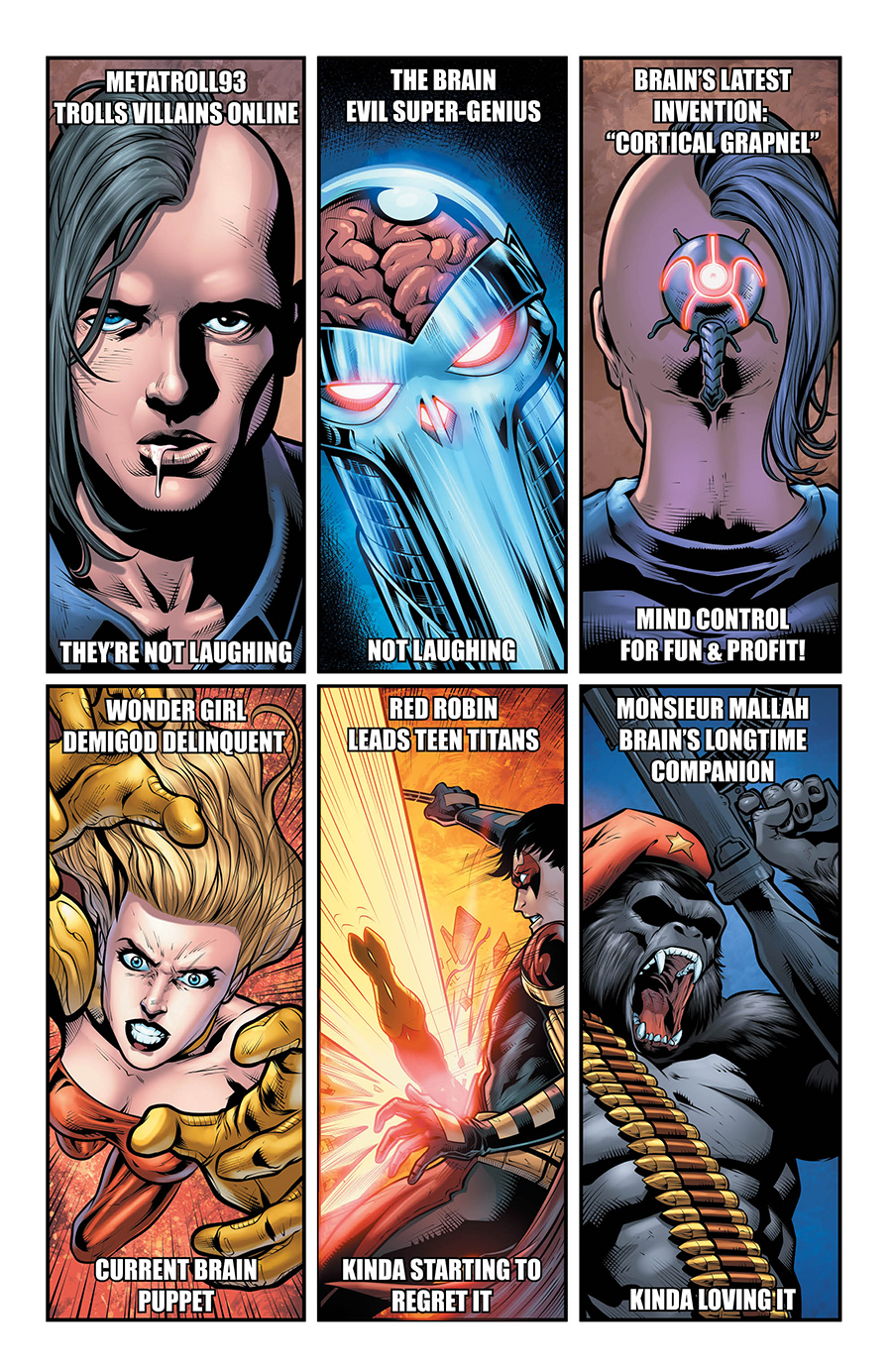 teen titans mind control comic