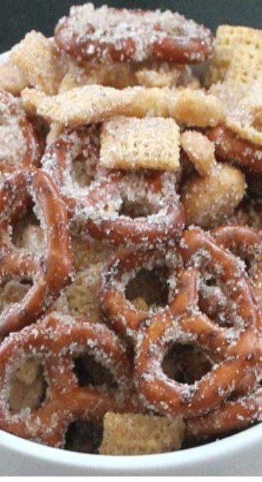 Sweet Salty Cinnamony Pretzel Snack Mix