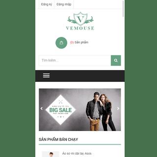 theme blog shop bán hàng thời trang