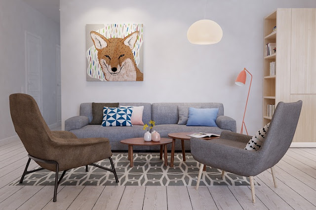 Mẫu thiết kế nội thất chung cư 105m2 hiện đại và ấn tượng nhất năm 2018 - H2