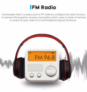 cuffie bluetooth p47 con radio fm