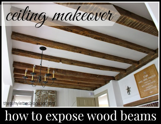 exposed wood beams primitive home