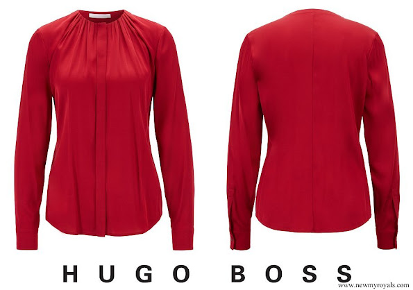 Crown Princess Mary wore Hugo Boss Banora8 blouse