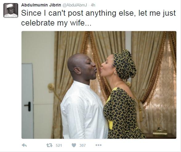 "Jibrin cuddles wife as APC orders him to ""shut up"""