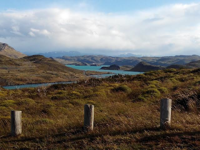 Vista del lago Pehoé