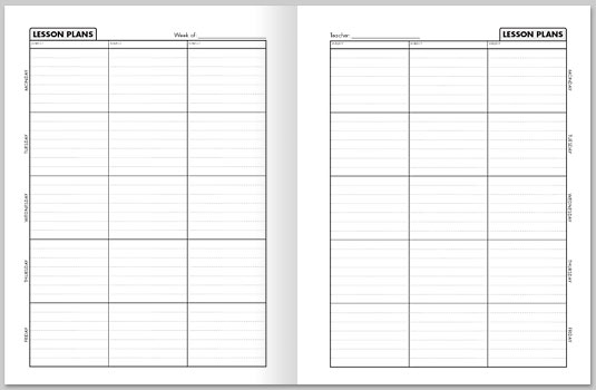 lesson plan book templates - Funfpandroid