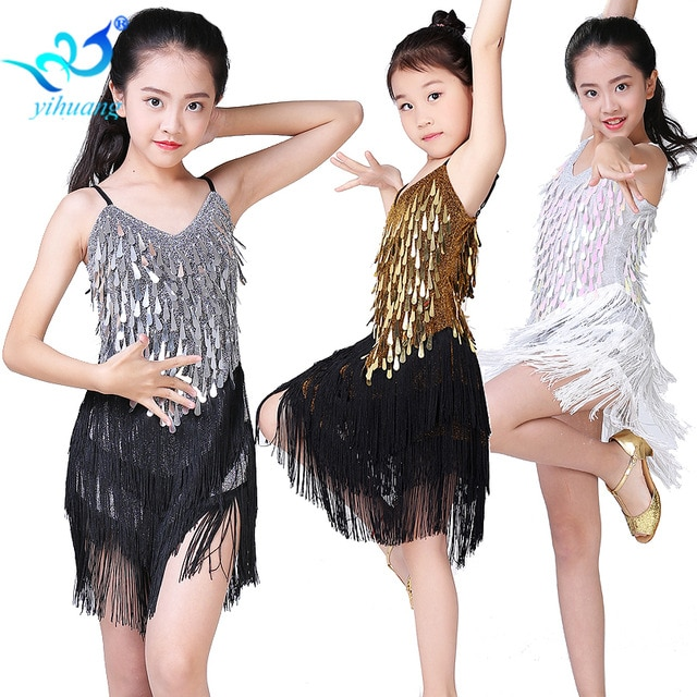 a1e97cdac8006 Best Children Latin Dance Dress Girls Ballroom Dance Competition ...