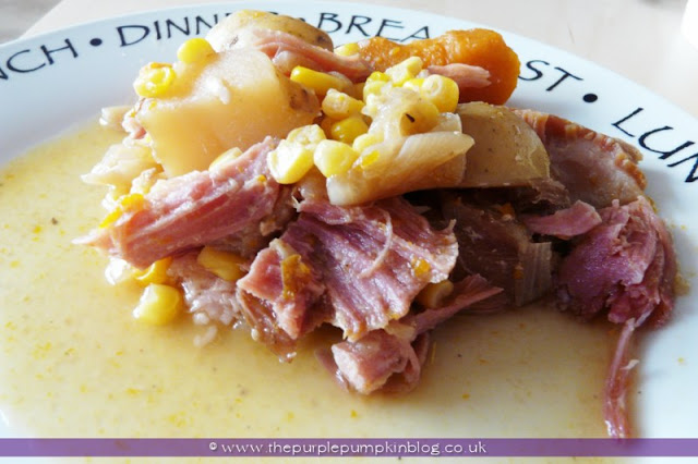 Slow Cooker Autumn Ham Casserole at The Purple Pumpkin Blog