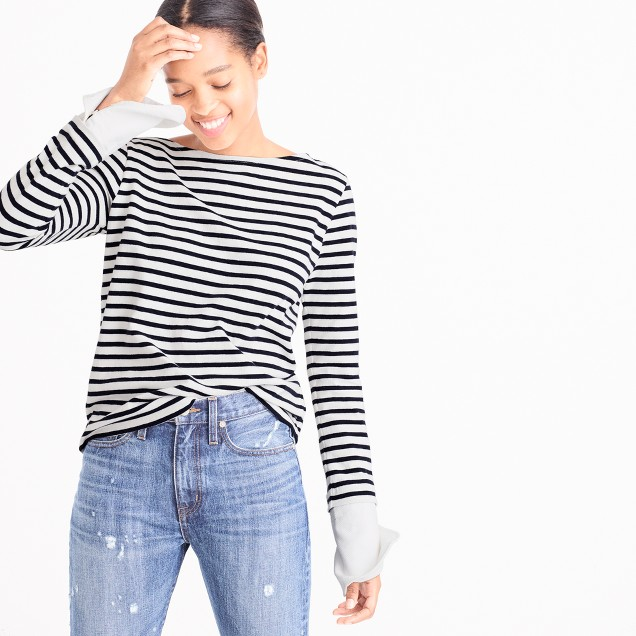 J Crew Striped Boatneck Tshirt