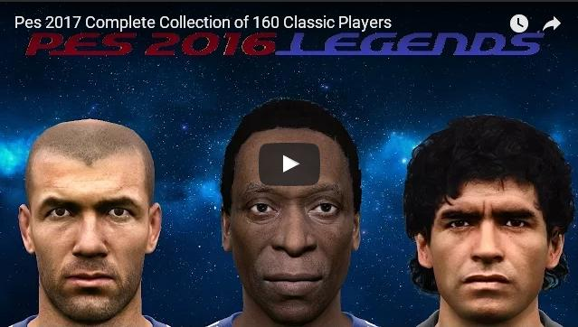 Update PES17 Collection of 160 Classic Faces