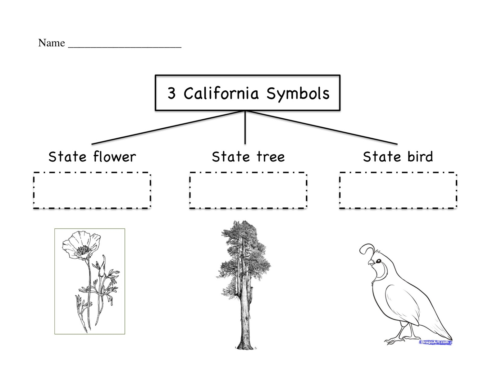 Kinder Learning Garden California Symbols