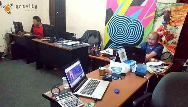 office gravity adventure fasilitas untuk menumpahkan segenap kreatifitas demi kliennya