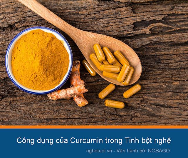 công dụng của curcumin trong tinh bột nghệ